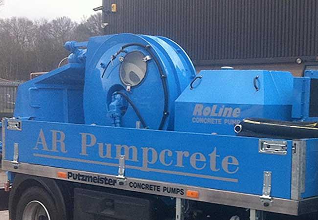 AR Pumpcrete Roline Pump Concrete Pumping